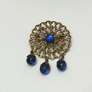 Unique Vintage Beaded Brooch